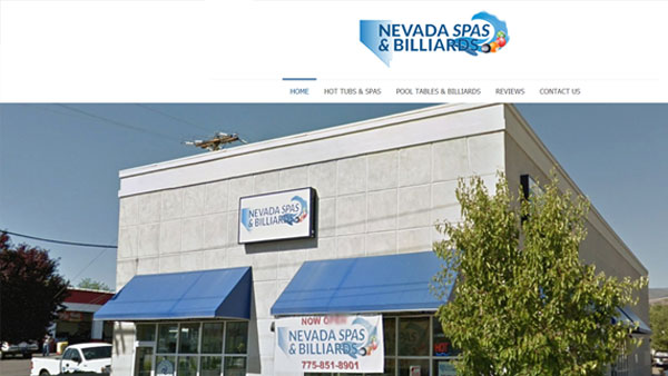 Nevada-Spas-Billiards-website-design