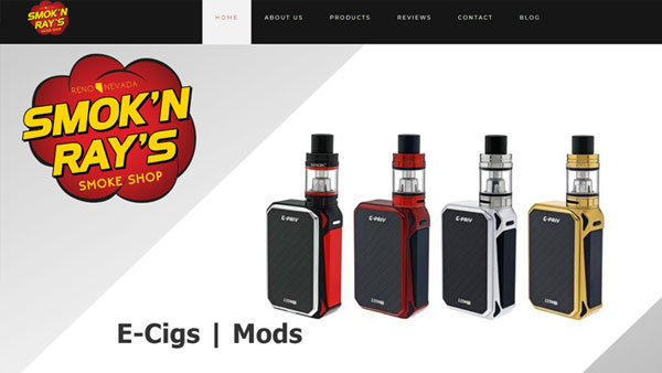 Smokn-Rays-Smoke-Shop-website-design