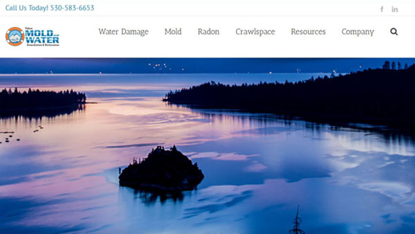 Tahoe-Mold-Water-website-design
