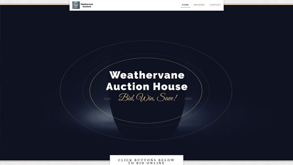 Weathervane-Auctions-website-design